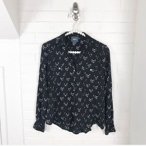 {Maeve} Anthropologie Cat Face Blouse